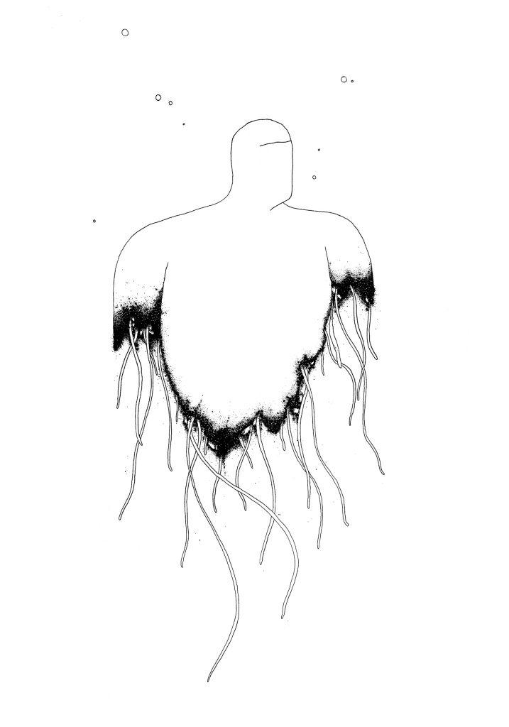 Sans titre (Les lambeaux de la méduse) 100x70